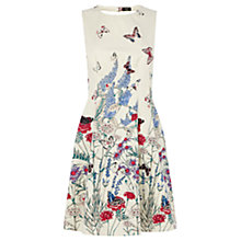 Buy Oasis Oriental Butterfly Print Skater Dress, White Multi Online at johnlewis.com