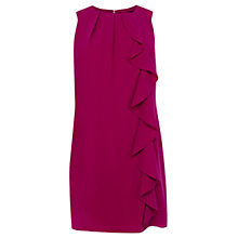 Buy Oasis Crepe Frill Shift Dress, Bright Purple Online at johnlewis.com