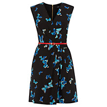 Buy Oasis Butterfly Wrap Dress, Black/Blue Online at johnlewis.com