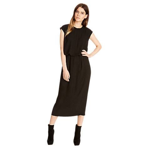 Buy Oasis Column Midi Dress, Black Online at johnlewis.com