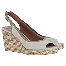 Buy Mint Velvet Mia Peep Toe Wedge Heeled Sandals, Grey Online at johnlewis.com