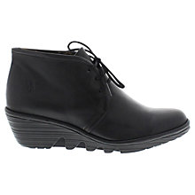 Buy Fly Pert Leather Ankle Boots, Black Online at johnlewis.com