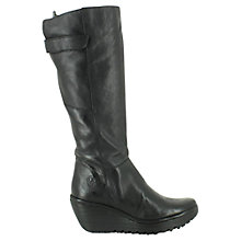Buy Fly Yoa Knee High Boots, Black Online at johnlewis.com