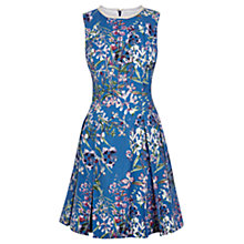 Buy Oasis Floral Beaded Dress, Multi Blue Online at johnlewis.com