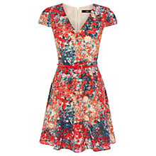 Buy Oasis Blurred Ditsy Skater Dress, Multi Red Online at johnlewis.com