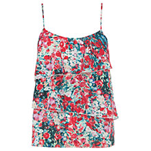 Buy Oasis Blur Ditsy Tier Cami Top, Multi Online at johnlewis.com