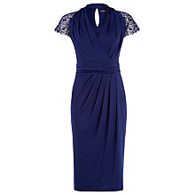 Buy Alexon Lace Jersey Dress, Navy Online at johnlewis.com