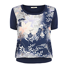 Buy Oasis Floral Print Megan Top Online at johnlewis.com