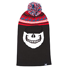Buy Animal Children's Skeletor Balaclava, Black Online at johnlewis.com