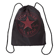 Buy Converse Drawstring Backpack, Black Online at johnlewis.com