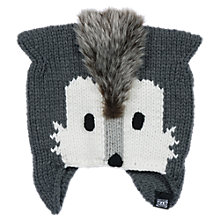 Buy Animal Noza Wolf Beanie Hat, One Size, Grey Online at johnlewis.com