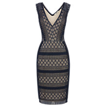 Buy Oasis Geometric Lace Dress, Navy Online at johnlewis.com