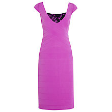 Buy Alexon Ottoman and Lace Dress, Violet Online at johnlewis.com