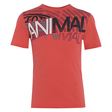 Buy Animal Boys' Hangers Graphic Print T-Shirt, Red Online at johnlewis.com
