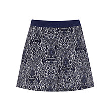 Buy Oasis Scarf Print Ditsy Sporty Shorts, Multi Blue Online at johnlewis.com