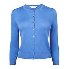 Buy L.K. Bennett Bibi Crew Neck Cardigan, Blue Online at johnlewis.com
