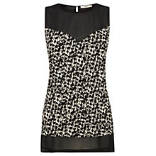 Buy Oasis Camo Print Vest, Black/White Online at johnlewis.com