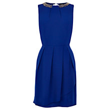 Buy Oasis Lily Embellished Dress, Blue Online at johnlewis.com
