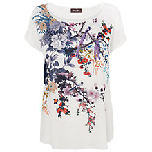 Buy Phase Eight Stefie Print Top, Ivory Online at johnlewis.com