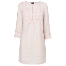 Buy Phase Eight Marianne Embroidered Bib Front Tunic, Pale Pink Online at johnlewis.com