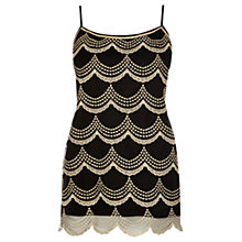 Buy Oasis Scallop Lurex Cami Top, Multi Black Online at johnlewis.com