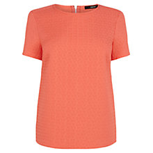 Buy Oasis Floral Texture Top, Coral Online at johnlewis.com