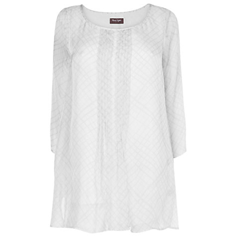 Buy Phase Eight Ciri Silk Check Blouse, White/Grey Online at johnlewis.com