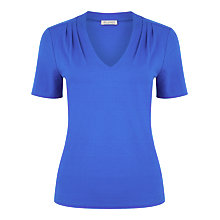 Buy Planet Pleated Shoulder Jersey Top, Dark Blue Online at johnlewis.com