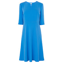 Buy L.K. Bennett Fit and Flare Sissy Dress, Sky Blue Online at johnlewis.com