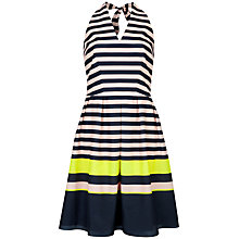 Buy Ted Baker Sarera Candy Bar Stripe Dress, Navy Online at johnlewis.com