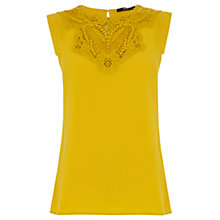 Buy Oasis Lace Trim Crepe Top Online at johnlewis.com