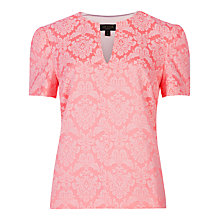 Buy Ted Baker Iginia Jacquard Top, Fuschia Online at johnlewis.com
