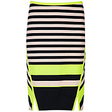 Buy Ted Baker Candy Bar Stripe Print Skirt, Navy Online at johnlewis.com