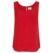 Buy Oasis Plain Vest, Rich Red Online at johnlewis.com