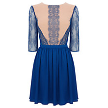 Buy Oasis Adelina Lace Skater Dress, Blue Online at johnlewis.com