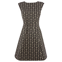 Buy Oasis Daisy Jacquard Dress, Black Online at johnlewis.com