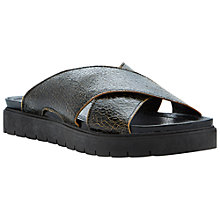 Buy Bertie Jackel Leather Slip On Flat Sandals Online at johnlewis.com