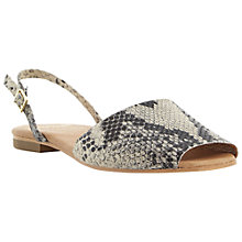 Buy Dune Black Leticia Menorcan Sandals, Neutral Reptile Online at johnlewis.com