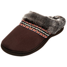 Buy Totes Woodland Slipper Mules, Chocolate Online at johnlewis.com