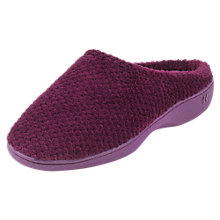 Buy Totes Popcorn Mule Slippers, Plum Online at johnlewis.com