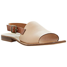 Buy Dune Black Lauren Leather Slingback Sandals, Tan Online at johnlewis.com