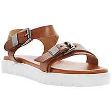 Buy Dune Black Laurie Flatform Leather Sandals, Brown Online at johnlewis.com