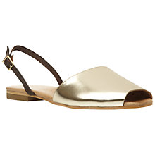 Buy Dune Black Leticia Menorcan Sandals, Gold Online at johnlewis.com