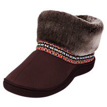 Buy Totes Woodland Slipper Boots, Chocolate Online at johnlewis.com