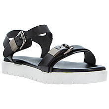 Buy Dune Black Laurie Flatform Leather Sandals Online at johnlewis.com