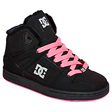 Buy DC Children's Rebound WNT Hi-Tops, Black/Pink Online at johnlewis.com
