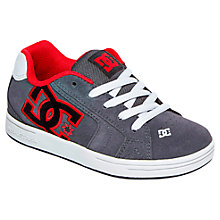 Buy DC Children's Net SD Low Trainers, Grey/Red Online at johnlewis.com