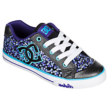 Buy DC Children's Chelsea Graffik Low Trainers, Grey/Purple Online at johnlewis.com
