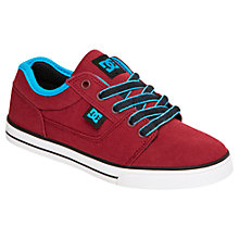 Buy DC Children's Tonik TX Low Trainers, Red/Blue Online at johnlewis.com