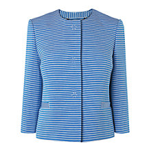 Buy L.K. Bennett Striped Mena Ottoman Jacket, Blue Online at johnlewis.com